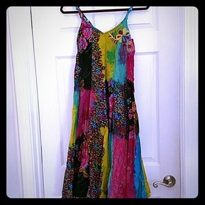 Beautiful multi coloured sundress, size small